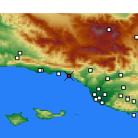 Nearby Forecast Locations - Carpinteria - Mapa