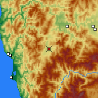 Nearby Forecast Locations - Cave Junction - Mapa