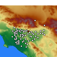 Nearby Forecast Locations - Claremont - Mapa