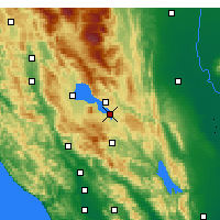 Nearby Forecast Locations - Clearlake - Mapa