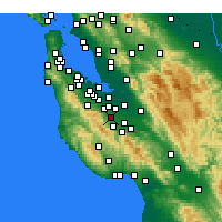 Nearby Forecast Locations - Cupertino - Mapa