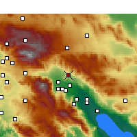 Nearby Forecast Locations - Desert Hot Springs - Mapa