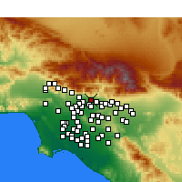 Nearby Forecast Locations - Duarte - Mapa