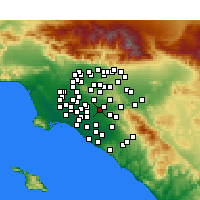 Nearby Forecast Locations - Fullerton - Mapa