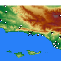 Nearby Forecast Locations - Goleta - Mapa