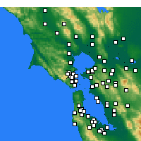 Nearby Forecast Locations - Greenbrae - Mapa