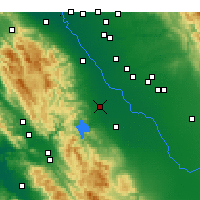 Nearby Forecast Locations - Gustine - Mapa