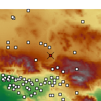 Nearby Forecast Locations - Hesperia - Mapa