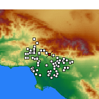 Nearby Forecast Locations - La Cañada Flintridge - Mapa