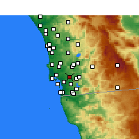 Nearby Forecast Locations - Lemon Grove - Mapa