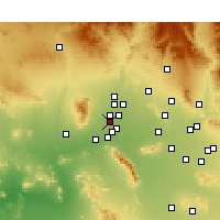 Nearby Forecast Locations - Litchfield Park - Mapa