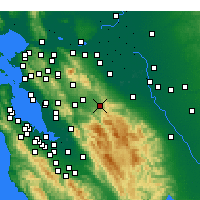 Nearby Forecast Locations - Livermore - Mapa