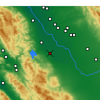 Nearby Forecast Locations - Los Banos - Mapa