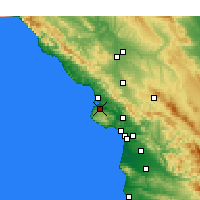 Nearby Forecast Locations - Los Osos - Mapa
