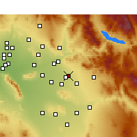 Nearby Forecast Locations - Mesa - Mapa