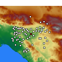 Nearby Forecast Locations - Mira Loma - Mapa