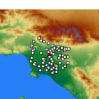Nearby Forecast Locations - Monterey Park - Mapa