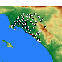 Nearby Forecast Locations - Newport Beach - Mapa