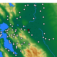 Nearby Forecast Locations - Oakley - Mapa