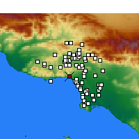 Nearby Forecast Locations - Pacific Palisades - Mapa