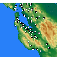 Nearby Forecast Locations - Palo Alto - Mapa