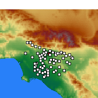 Nearby Forecast Locations - Pasadena - Mapa