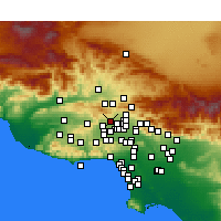 Nearby Forecast Locations - Porter Ranch - Mapa