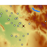 Nearby Forecast Locations - Queen Creek - Mapa