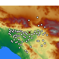Nearby Forecast Locations - Rancho Cucamonga - Mapa