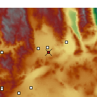 Nearby Forecast Locations - Ridgecrest - Mapa