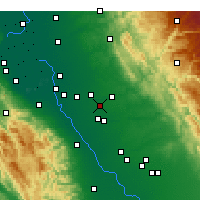 Nearby Forecast Locations - Riverbank - Mapa