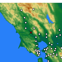 Nearby Forecast Locations - Rohnert Park - Mapa