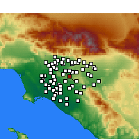 Nearby Forecast Locations - Rowland Heights - Mapa