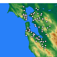 Nearby Forecast Locations - San Bruno - Mapa