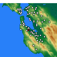 Nearby Forecast Locations - San Carlos - Mapa