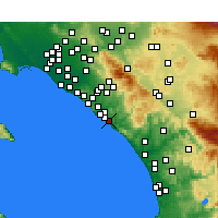 Nearby Forecast Locations - San Clemente - Mapa