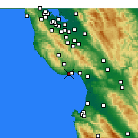 Nearby Forecast Locations - Scotts Valley - Mapa