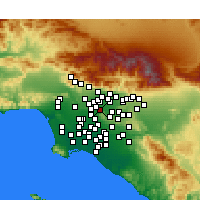 Nearby Forecast Locations - South El Monte - Mapa
