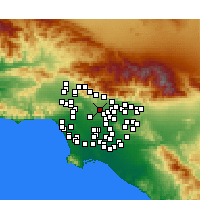 Nearby Forecast Locations - South Pasadena - Mapa