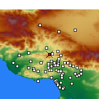 Nearby Forecast Locations - Stevenson Ranch - Mapa