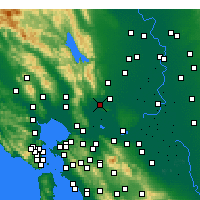 Nearby Forecast Locations - Suisun - Mapa