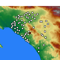 Nearby Forecast Locations - Trabuco Canyon - Mapa