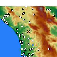 Nearby Forecast Locations - Valley Center - Mapa
