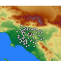 Nearby Forecast Locations - West Covina - Mapa