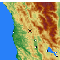 Nearby Forecast Locations - Willits - Mapa
