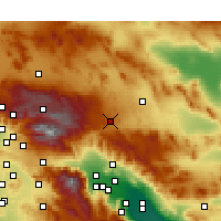 Nearby Forecast Locations - Yucca Valley - Mapa