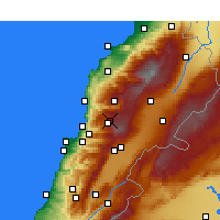 Nearby Forecast Locations - Fâraïya - Mapa